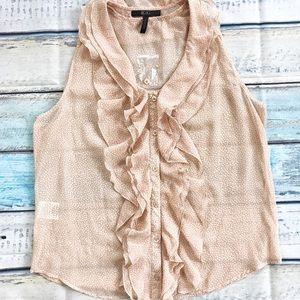 New BCBG ruffle blouse